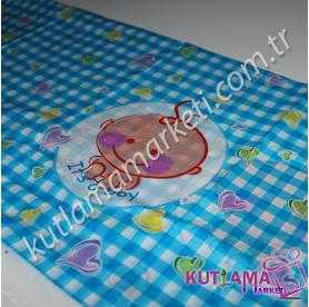 Bebek Kareli Masa Örtüsü