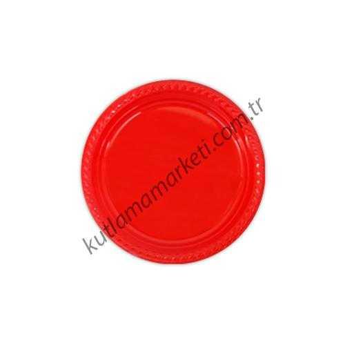 Kırmızı Plastik Tabak