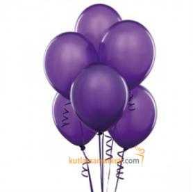 Mor Balon 8 Adet