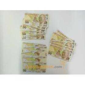 Geçersiz 100 Adet 50 Lira