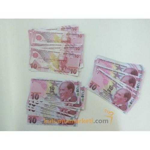 Geçersiz 100 Adet 10 Lira