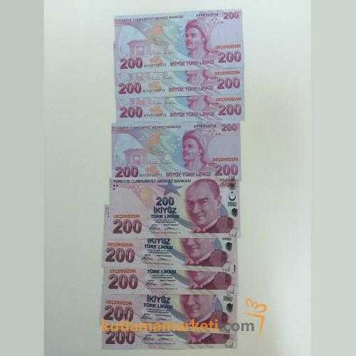 Geçersiz 100 Adet 200 Lira